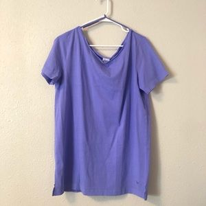 PINK Off Shoulder Lilac Tee